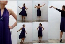 Cómo hacer un vestido sin dar una sola puntada. How to make a dress without sewing - Rosa Montesa