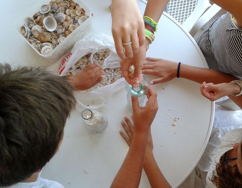 Conchas de playa embotelladas - Seashells bottled