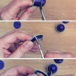 Cómo hacer un lazo con cápsulas de café How to make a ribbon out of coffee caps