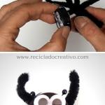 Manualidades con niños - Tapones reciclados - diy Araña