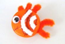 Pez Nemo Manualidad con tapa de botella de plastico