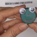 RANA. Manualidad de reciclaje para niños