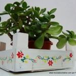 Reciclaje. Cajas de fresas para decoración