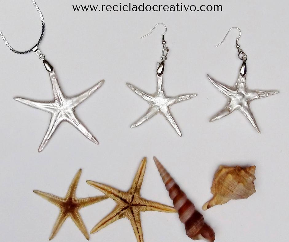 Estrellas de mar convertidas en joyas de bisutería