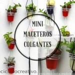 Mini Maceteros Colgantes con Cápsulas de café recicladas