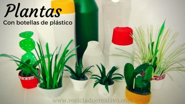DIY Manualidades miniaturas plantas con botellas de plástico
