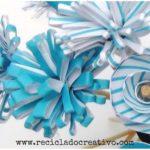 Ramo de flores con cartón - papel reciclado