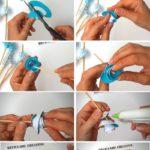 Infographic cómo hacer rosas con cartulina o papel reciclado