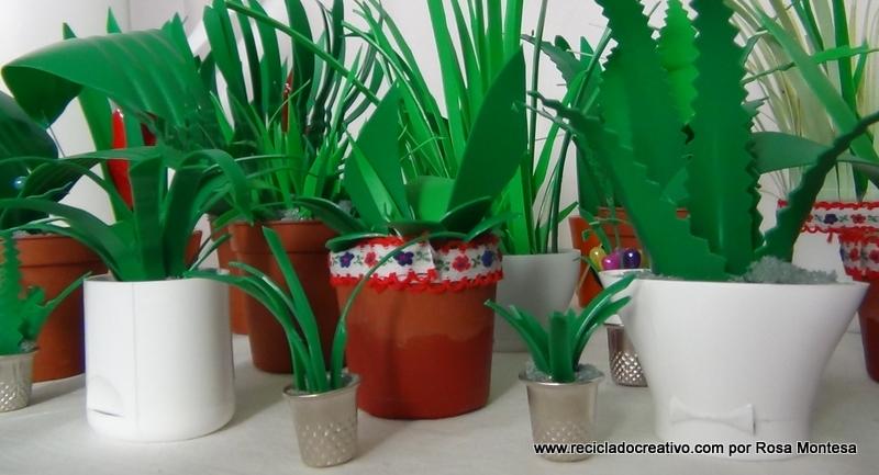 Miniaturas de jardinería DIY con botellas de plástico