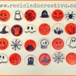 Manualidades con niños para Halloween con tapones de botellas de plástico reciclados