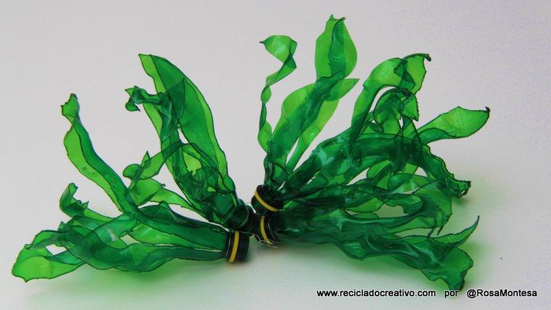 Algas con botellas de pl stico recicladocreativo for Algas en piscinas de plastico