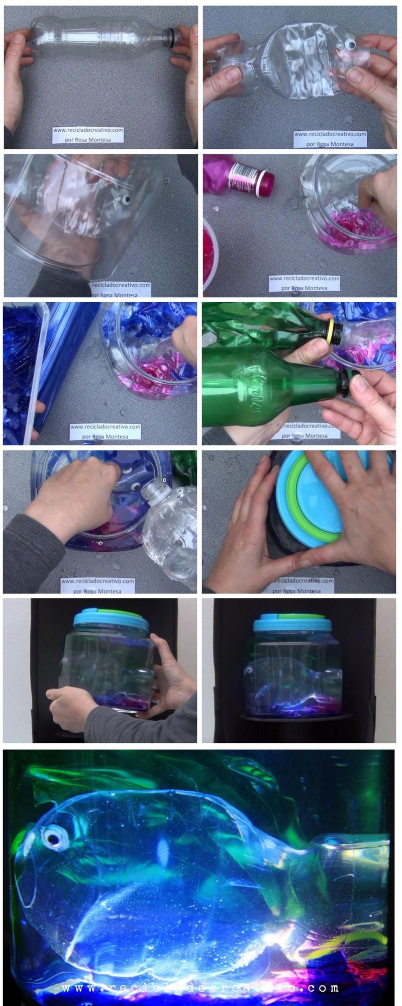 Paso a paso. Acuario artificial con botellas de plástico
