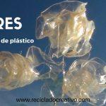 Rosas reciclando botellas de plástico PET