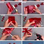 Paso a paso flores rojas dalias con botellas de plástico