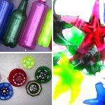 Botellas de plástico convertidas en estrellas
