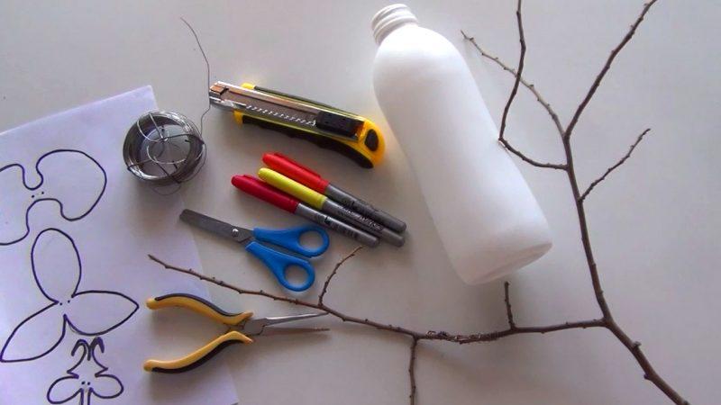 Orquídeas con botellas de plástico recicladas por Reciclado Creativo