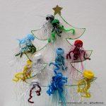 Navidad reciclando tapas de botellas de plástico