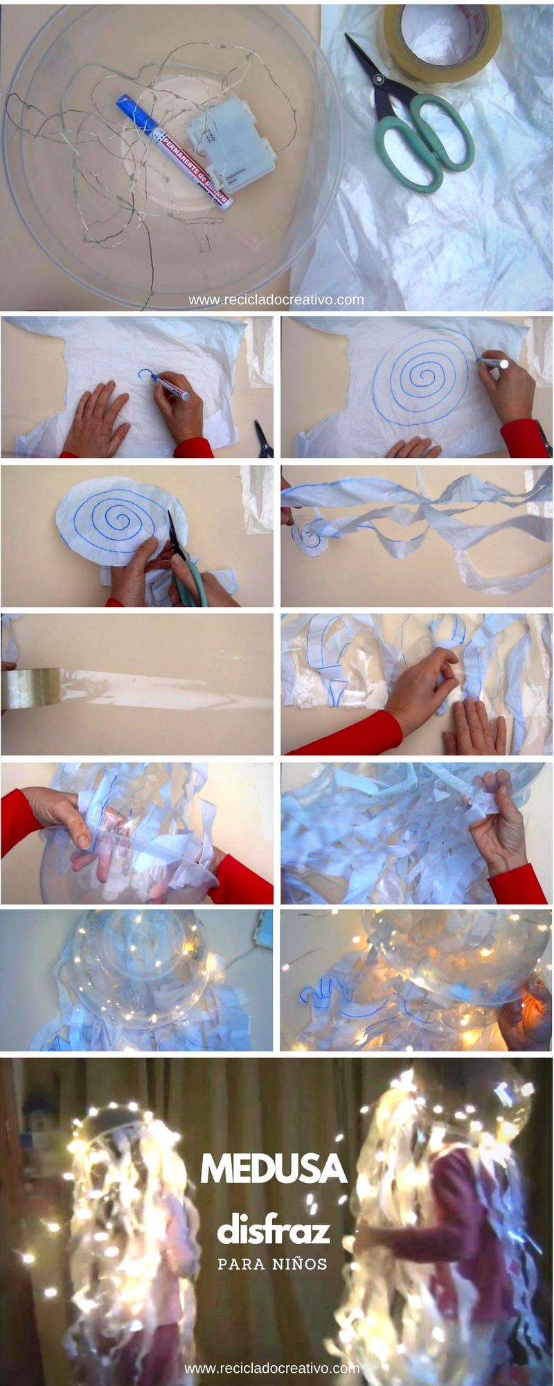 Paso a paso para hacer un disfraz de medusa para niños