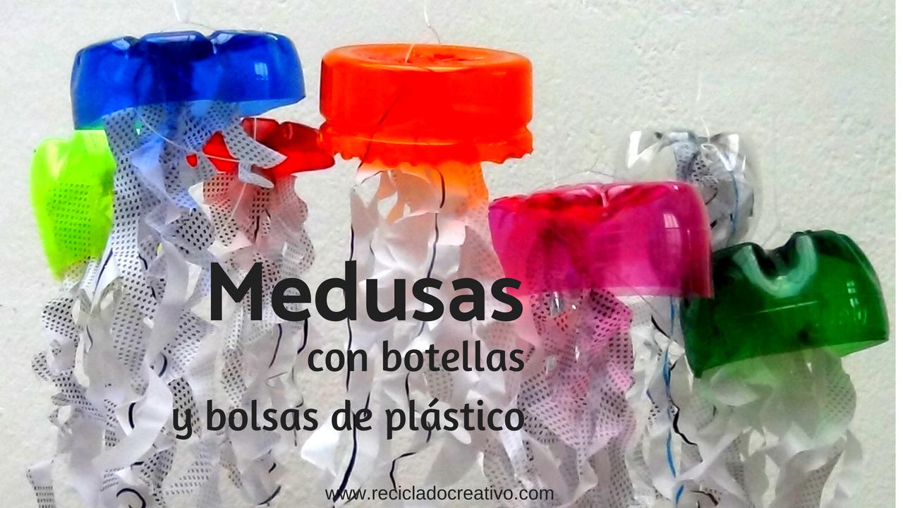 Medusas con botellas y bolsas de plástico - Talleres para niños