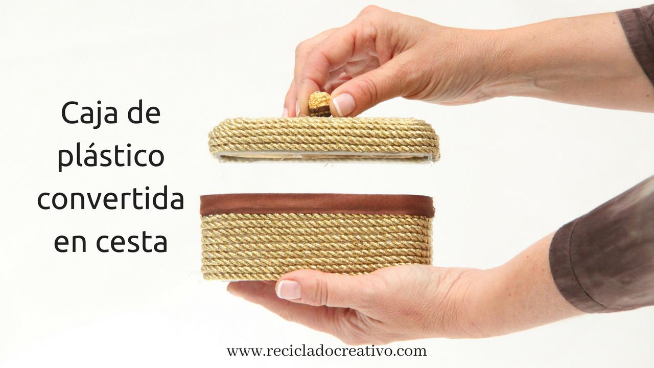 Caja de plástico reciclada bombonera - cesta - cofre - Reciclado Creativo