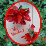 Feliz Navidad Rosa Montesa RecicladoCreativo