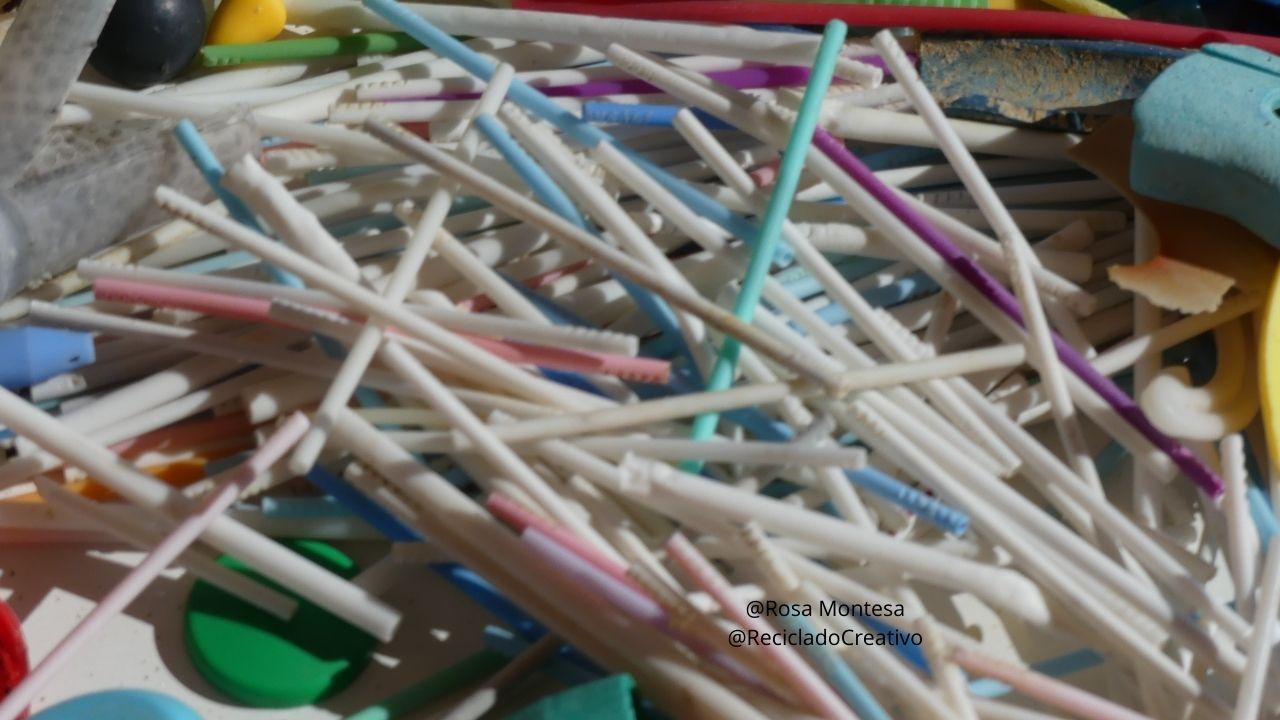 Limpieza de playa, plásticos encontrados