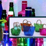 Mini capazos reciclando botellas de plástico