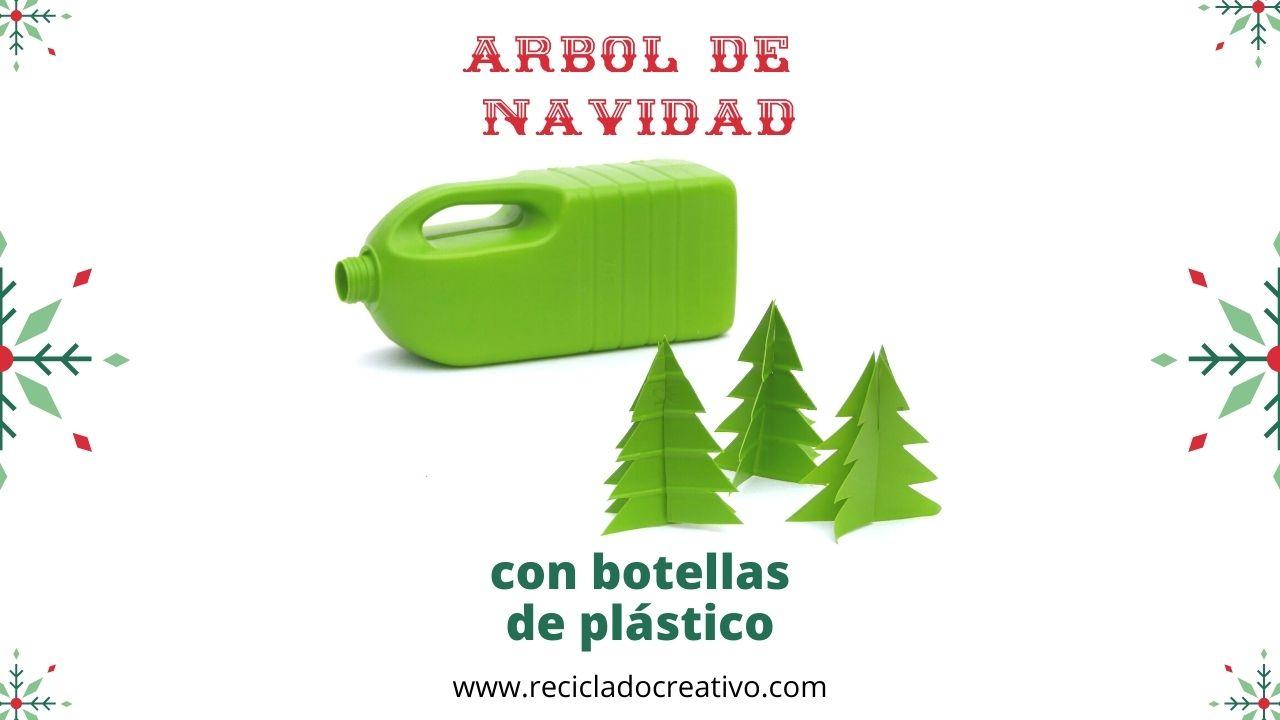 Árbol de Navidad_reciclado_garrafas de plástico