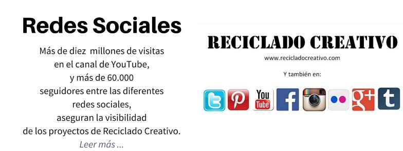 REDES SOCIALES DE RECICLADO CREATIVO