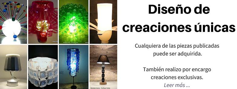 DISEÑO DE CREACIONES EXCLUSIVAS DE RECICLAJE CREATIVO