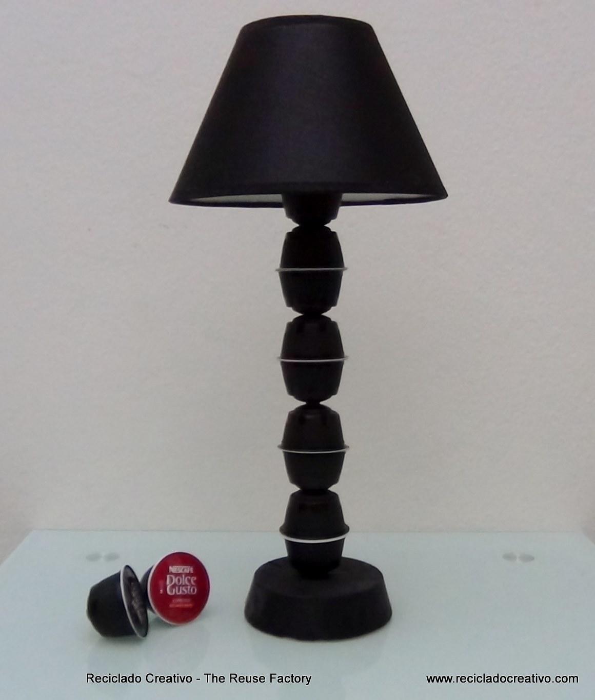 C mo hacer el pie de una lampara de mesa con capsulas de - Como hacer una lampara de mesa ...