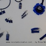 Bisutería realizada con botellas de plástico recicladas. Collares, pendientes, colgantes. Jewelry made out of recycled plastic bottles Reciclado Creativo by Rosa Montesa