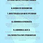 Infographic 10 consejos básicos para reducir la huella ecológica