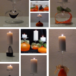 Halloween Inspiration and Ideas for deco Portavelas reautilizando copas de vino y globos
