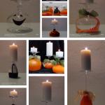 Halloween Inspiration and Ideas for deco Portavelas reautilizando copas de vino y globos
