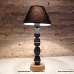 Pie de lámpara realizado con Cápsulas de cafe Dolce Gusto. Lamp Base made wiht Dolce Gusto coffee capsules