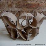 Florero Frutero flor de la vida Rollos de papel higienico - Vase made from toilet paper rolls