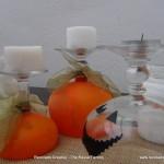 Copas de cristal con globos para decorar en Halloween