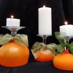 Copas de vino comvertidas en Portavelas para Halloween