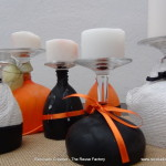 Halloween Inspiration and Ideas ¿Copas de vino, portavelas o candelabros? - Wine Glasses or Candleholders?