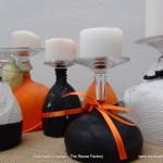 Halloween Inspiration and Ideas ¿Copas de vino, portavelas o candelabros? - Wine Glasses or Candleholders?