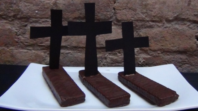 Tumbas de Chocolate Turrón Viena Meivel. Halloween