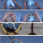 Raquetas de tenis convertidas en marco de fotos