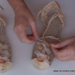 Sandalias, alpargatas, espardeñas valencianas tuneadas. Reciclado Creativo. Rosa Montesa