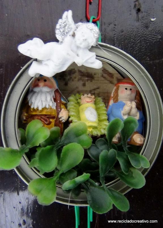 Bel n navide o en latas de at n recicladas 37 - Belen navideno manualidades ...