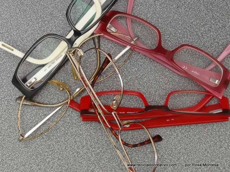 Viejos cristales de gafas convertidos en pendientes y colgantes ...