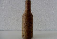 Cómo reciclar una botella de cristal y convertirla en un florero decorativo