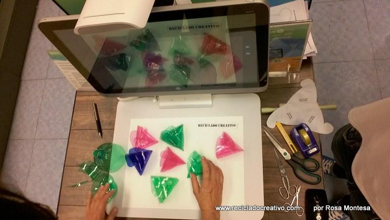 Cómo hacer una caja triangular con una botella de plástico con Sprout de HP