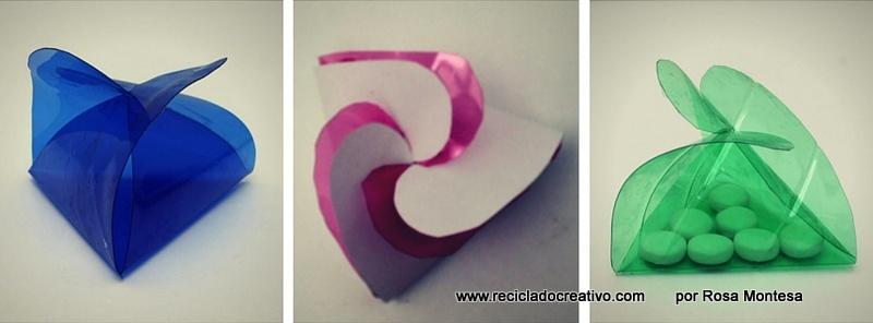 Cómo hacer una caja triangular con una botella de plástico