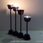 RecicladoCreativo.com Cápsulas Dolce Gusto como portavelas. Dolce Gusto Coffee Capsules as candle holders